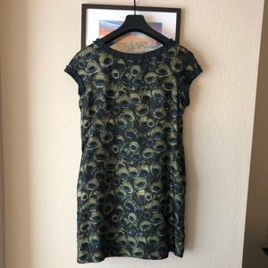 Milly peacock print dress